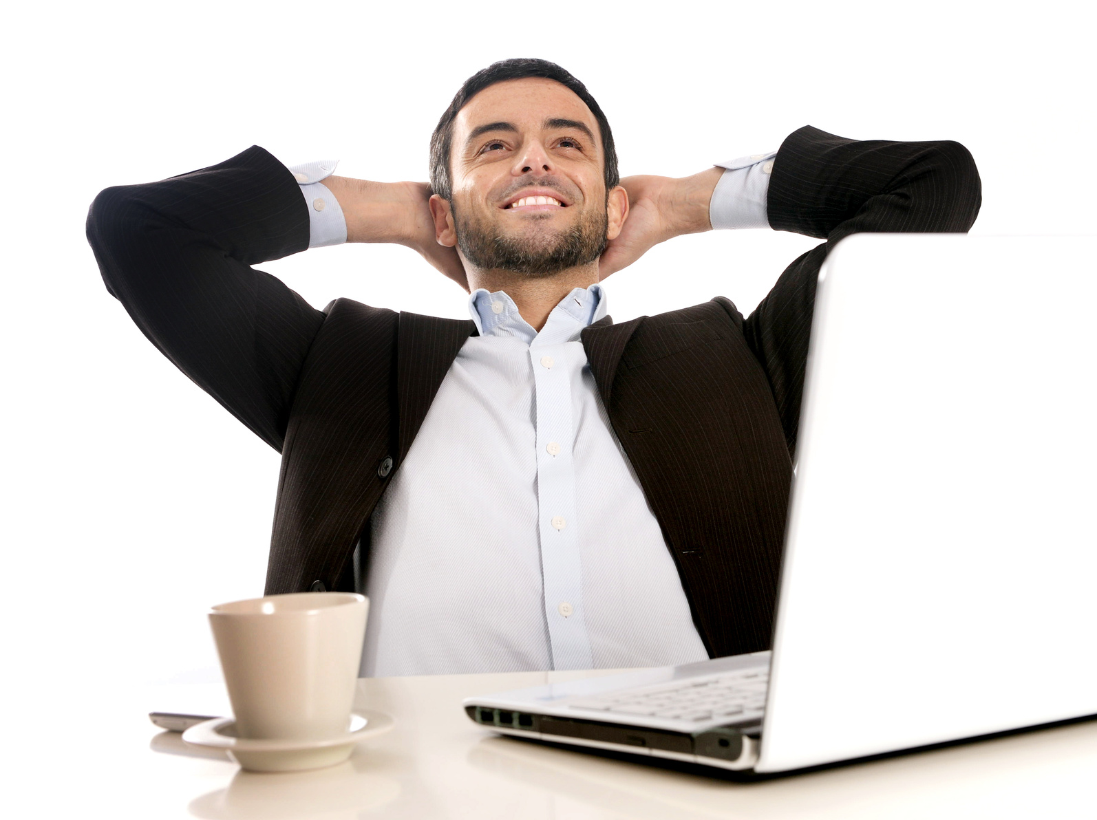 Successful Businessman relaxed and satisfied