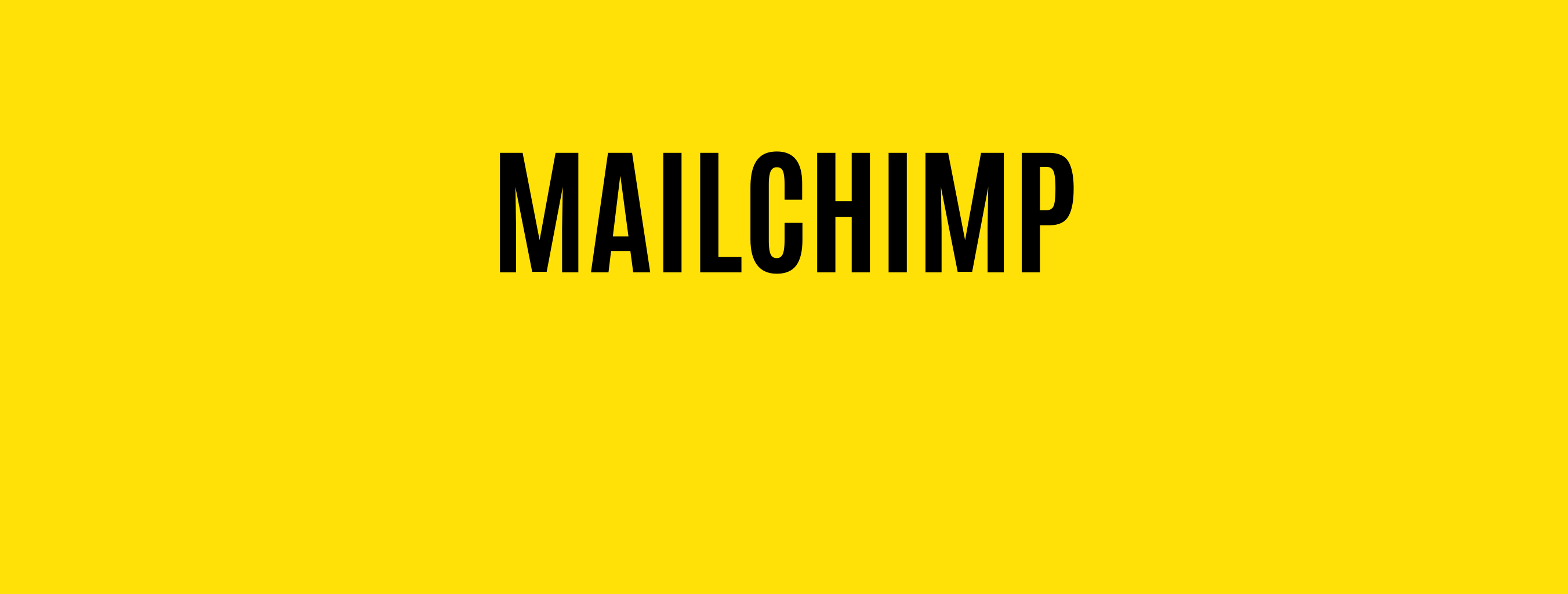 Mailchimp Email Marketing, Social & CRM